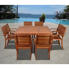 <strong>International Home Miami</strong> Amazonia Maryland 9 Piece Dining Set