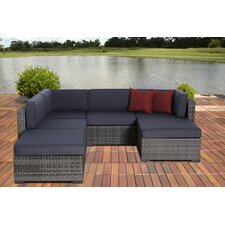 <strong>International Home Miami</strong> Atlantic 6 Piece Deep Seating Group with Cushions