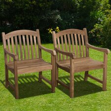 <strong>International Home Miami</strong> Darwin Stacking Dining Arm Chairs (Set of 2)