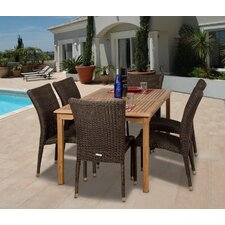 <strong>International Home Miami</strong> Amazonia Wales 7 Piece Dining Set
