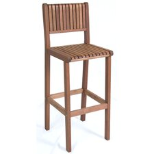 Amazonia Nottingham Eucalyptus Barstool in Light Brown
