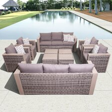 Atlantic Cameron 10 Piece Conversation Set with Cushions