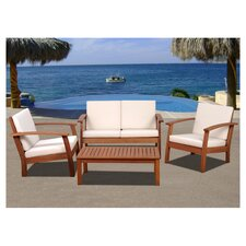 Amazonia Chicago 4 Piece Deep Seating Group with Cushions I