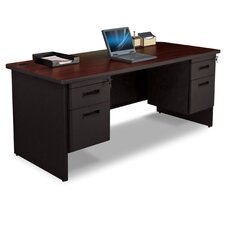 Pronto Double Pedestal Desk with Box and File