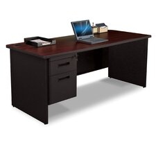 Pronto Executive Desk with Box and File