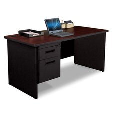 "Pronto 60"" W Single Pedestal Desk with Box and File"