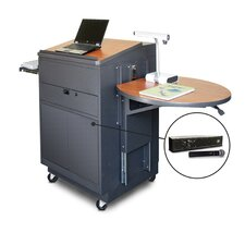 Vizion Media Center Cart with Lectern