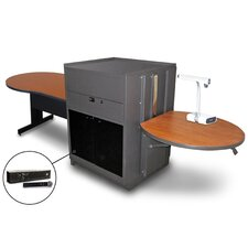 Vizion Keyhole Table With Media Center