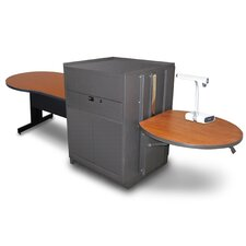 Vizion Media Center With Keyhole Table