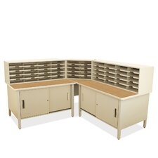 Mailroom 50 Slot Organizer with Cabinet