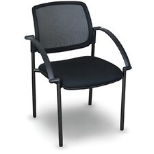 Fermata® Mesh Stackable Visitor Chair with Arms