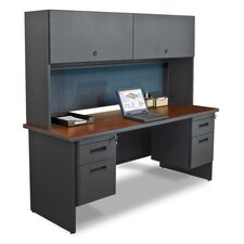 Pronto Executive Desk with Flipper Door Cabinet