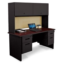 "Pronto 60"" W Double File Desk Credenza with Flipper Door Cabinet"