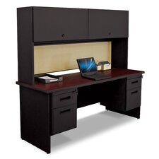 Pronto Executive Desk with Flipper Door Cabinet and Modesty Panel