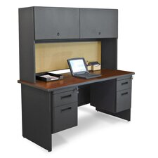 Pronto Executive Desk with Flipper Door Cabinet