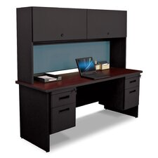 Pronto Executive Desk with Flipper Door Cabinet and Lock