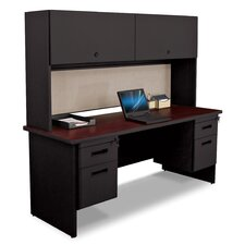 Pronto Executive Desk with 2 Right and 2 Left Drawers