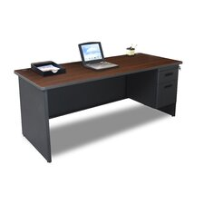 "<strong>Marvel Office Furniture</strong> Pronto 72"" Single Pedestal Computer Desk"