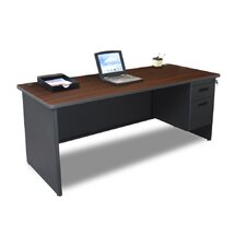 Pronto Executive Desk with Lock and 2 Right Drawers