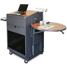 Zapf Office Support Media Center Cart with Acrylic Door