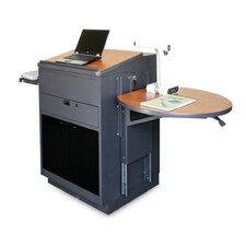 Zapf Office Support Media Center Lectern with Acrylic Door
