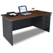 "Pronto 60"" Single Pedestal Computer Desk"