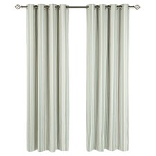 Shabby Elegance Beechwood Lined Eyelet Curtains (Set of 2)
