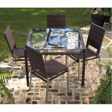 All-Weather Pacific 5 Piece Square Dining Set