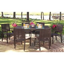 All-Weather Miami 7 Piece Rectangular Dining Set
