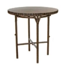 <strong>Whitecraft</strong> Chatham Run Heartwood Round Bar Table with Faux Top