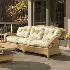 Boca Wicker Sofa with Cushions