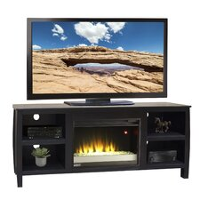 "Curve 69"" TV Stand with Electric Fireplace"