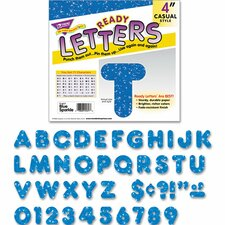 Blue Sparkles Ready Letters (Set of 71)