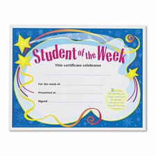 Student of the Week Certificates (Set of 30)