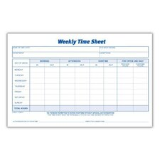 Weekly Time Sheet (Set of 12)