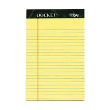 60 pt. Jr. Legal Rule Docket Pad (Set of 72)