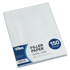 "16 lbs 10.50"" x 8.50"" Wide Rule Filler Paper (Set of 150)"