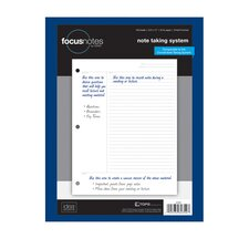 "8.5"" x 11"" 3 Hole Punched Focus Notes Filler Paper (Set of 2400)"