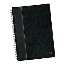 "11.75"" x 8.25"" Textured Leatherette Wire O Legal Rule Notebook (Set of 20)"