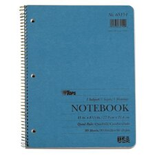 3 Hole Punched Quadrille Ruled Kraft Notebook (Set of 24)