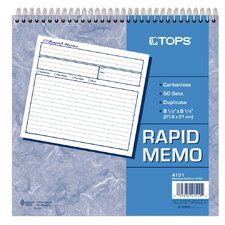 2 Part Carbonless Rapid Memo Book (Set of 5)