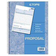 2 Part Carbonless Proposal Book (Set of 5)