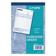 <strong>Tops</strong> 2 Part Carbonless Purchase Order Book (Set of 10)