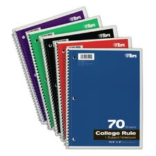 3 Hole Punched College Ruled Wirebound Notebook (Set of 24)