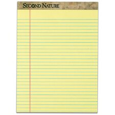 Second Nature 18 lbs Legal Pad (Set of 72)
