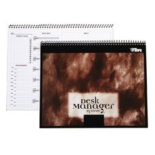 60 pt. Desk Manager Multi Tasking Wirebound Notebook (Set of 24)