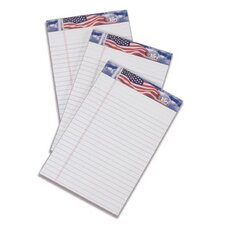 American Pride US Flag Headtape Writing Tablet (Set of 144)