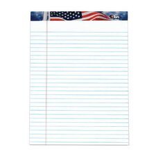 American Pride US Flag Headtape Writing Tablet (Set of 72)