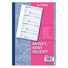 <strong>Tops</strong> 3 Part Carbonless Money Receipt Book (Set of 10)