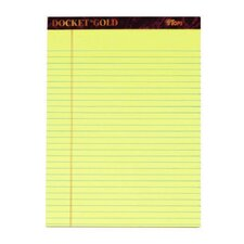 60 pt. Docket Gold Legal Rule Pad (Set of 72)